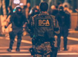 BCA agent, taken from the back with the logo clearly visible