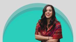Stephanie Gallardo against a white and green background