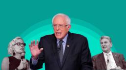 Kysten Sinema, Bernie Sanders, and Joe Manchin