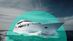 yacht in the ocean, owner probably got a tax break on it
